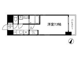 Osaka Metro谷町線 南森町駅 徒歩9分の賃貸マンション 3階1Kの間取り