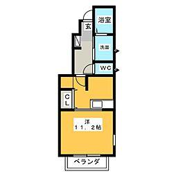 メゾンステーション美合[1階]の間取り