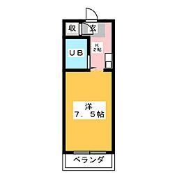 エクセルカクエン[2階]の間取り