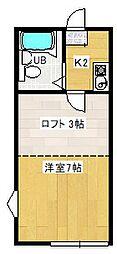 金子グリーンハイツ[1階]の間取り