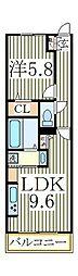 ルーチェ柴崎台[3階]の間取り