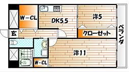 TAKADA・BLD・No.2[7階]の間取り