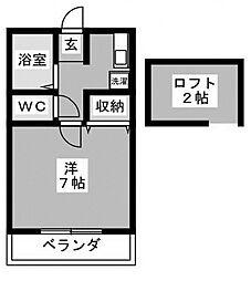 ヴェント カルモ[2階]の間取り