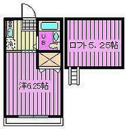埼玉県さいたま市大宮区浅間町1丁目の賃貸アパートの間取り