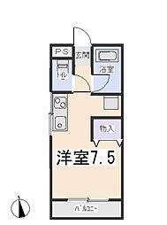 愛知県岡崎市元欠町3丁目の賃貸マンションの間取り