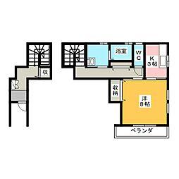 MJ浜田町[2階]の間取り