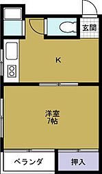 キープ港晴[4階]の間取り