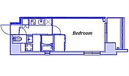 JR京浜東北・根岸線 大宮駅 徒歩9分の賃貸マンション 4階1Kの間取り