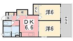 グリーン・ロード尾上Ⅰ[1階]の間取り