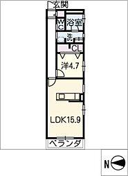覚王山アパートメント[1階]の間取り