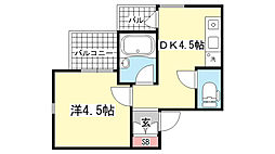 兵庫県神戸市東灘区魚崎南町2丁目の賃貸マンションの間取り