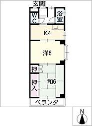 トマツマンション[2階]の間取り