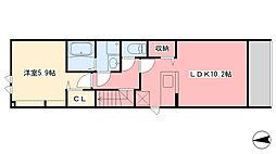 レティスS[2階]の間取り