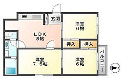松川マンション1号館[201号室]の間取り