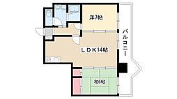 愛知県名古屋市瑞穂区瑞穂通1丁目の賃貸マンションの間取り