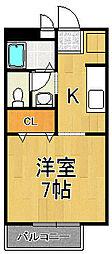 シュロス甲東園[2階]の間取り