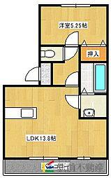 N・フレア[2階]の間取り
