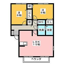 アダージォ[2階]の間取り