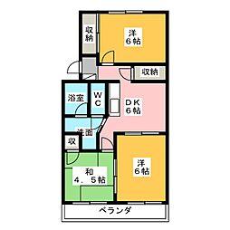 マンション藤田[4階]の間取り