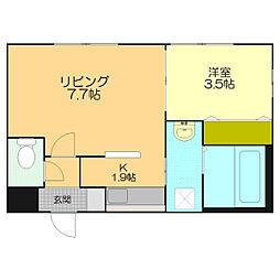 仮)江別市東野幌本町5-26MS[202号室]の間取り