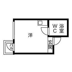 プレアール長居公園III[2-C号室]の間取り