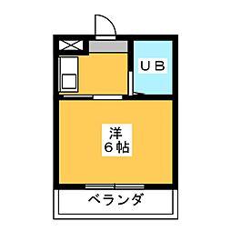 大仁マンション[3階]の間取り