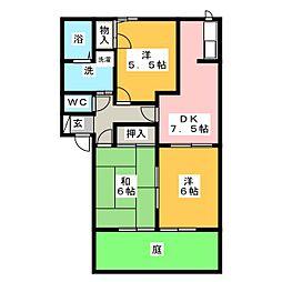 コウジーコ−トA棟[1階]の間取り