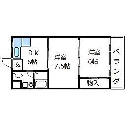 モラーダフジモト[4階]の間取り