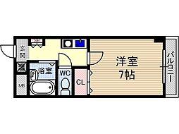末広14番館[2階]の間取り