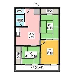 第3菊屋ビル[4階]の間取り