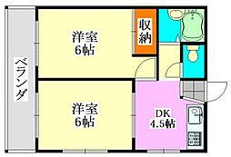 ハイネスハザマ[301号室]の間取り