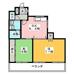愛知県名古屋市瑞穂区惣作町3丁目の賃貸マンションの間取り