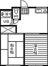 コーポ武蔵野[103号室]の間取り