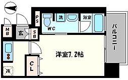 ジュネーゼロイヤルレジデンス梅田東[6階]の間取り