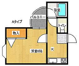 クイーンズ・コート[2階]の間取り