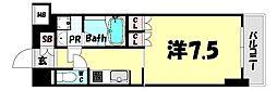 プラネソシエ神戸元町 8階1Kの間取り