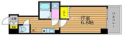 JR山陽本線 岡山駅 徒歩5分の賃貸マンション 2階1Kの間取り