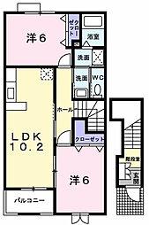 ラ・コリーナC[2階]の間取り
