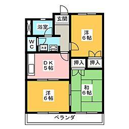 アメニティハウスオガワ B[2階]の間取り