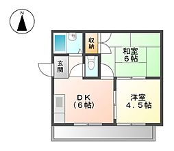 エスポワ−ル上飯田[5階]の間取り
