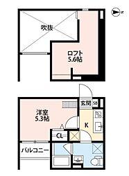 ボヌール・クマタ[2階]の間取り