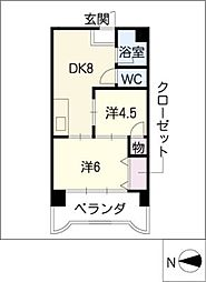 第3宮地マンション記念橋[10階]の間取り