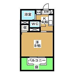 エバグリーン黒笹[1階]の間取り