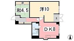 ANGELO西夢前台[1階]の間取り