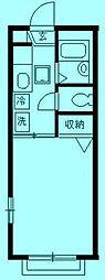 神奈川県川崎市高津区瀬田の賃貸アパートの間取り