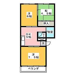小泉ハウス[3階]の間取り