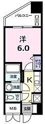 エルシェ横濱 4階1Kの間取り