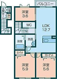 シャーメゾン桜[203号室]の間取り