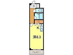 ゴールドマンション安井3[242号室]の間取り