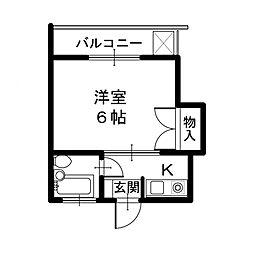 メゾンOZO[1階]の間取り